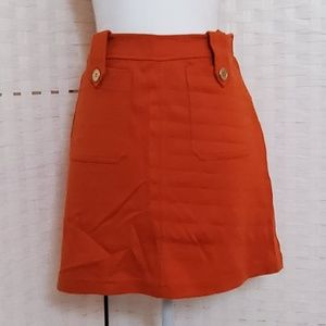H&M Orange Pocket Mini Skirt